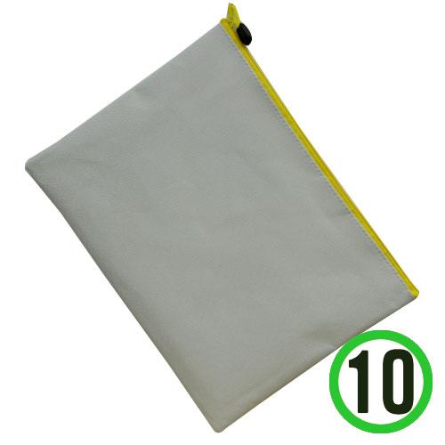 (냅스) A4서류가방*노랑*지퍼+하양*33x24cm(10개입) K-08-103