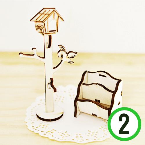 미니어처 DIY 3호*잡지꽂이&옷걸이(2개입) Q-01-204, W-03-213