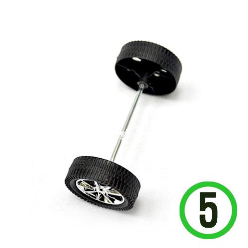 자동차 폼 전용바퀴 바퀴지름3.8*축7.5cm*5쌍(바퀴20개*축10개)*T-04-305
