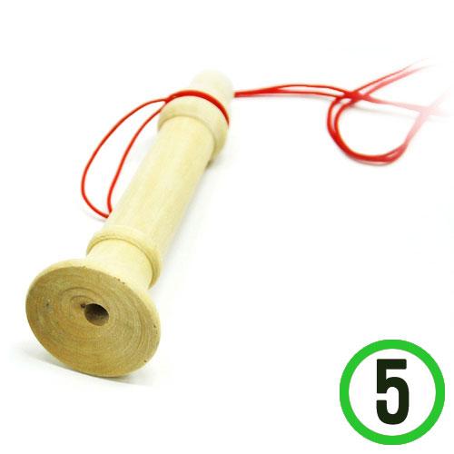 원목나팔*5개입 12.5cm Q-05-204