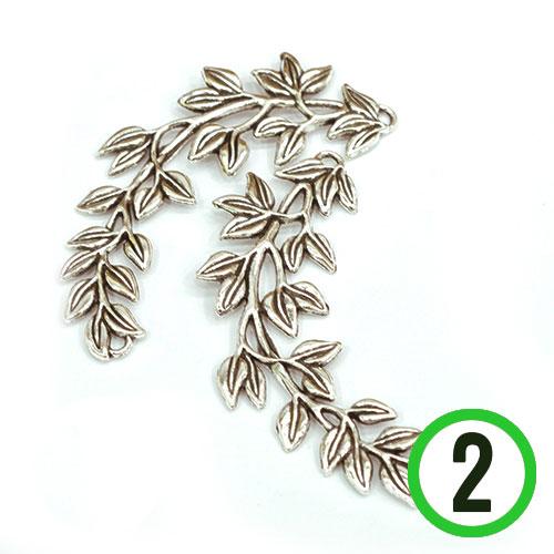 S-70*참장식*나뭇잎장식 *8.2cm(2개입) B-04-161