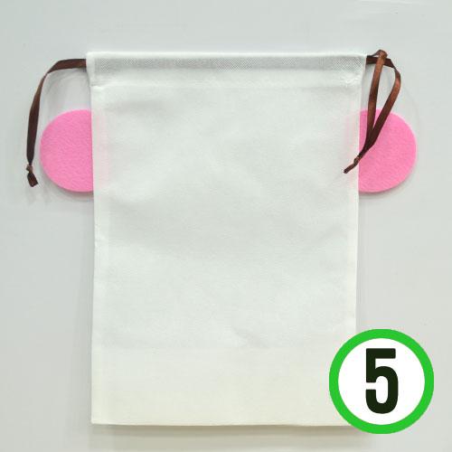 (냅스) DIY부직포 가방*핑크*32x31x13cm(5장입) K-10-304