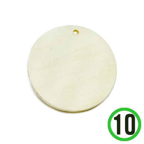원목 1구멍 원형판*7cm*두께4mm(10개입) R-07-304