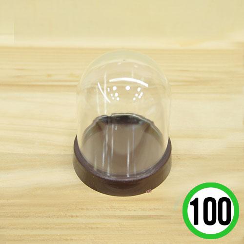 미니어쳐 원형 돔케이스*100개묶음* 5.5x6.5cm J-06-212