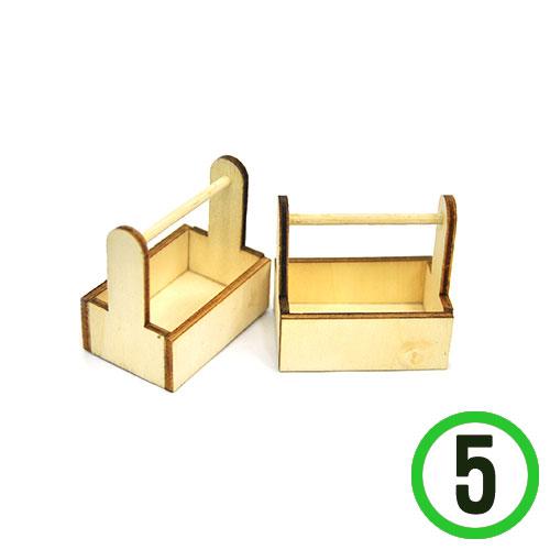 미니어쳐 원목 잡지꽂이4.5x4.5x3cm(5개입) N-04-102