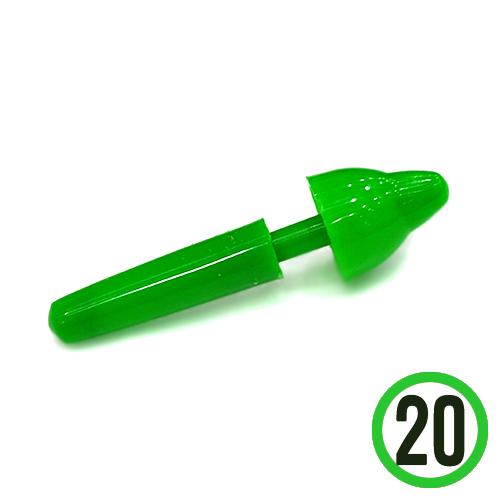 팽이축*초록*20개입 1.5*4.5cm *I-05-210