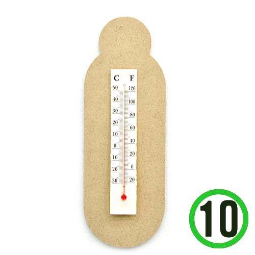 MDF 온도계+스티커 온도계大포함(10개입) S-01-108
