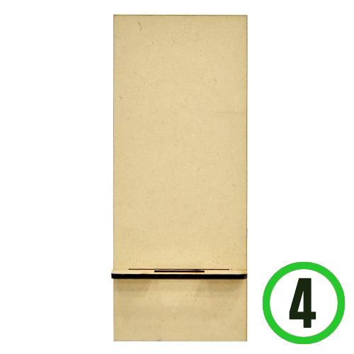 (냅스) MDF핸드폰거치대*사각*8x19.5cm(4개입)두께3mm X-02-121