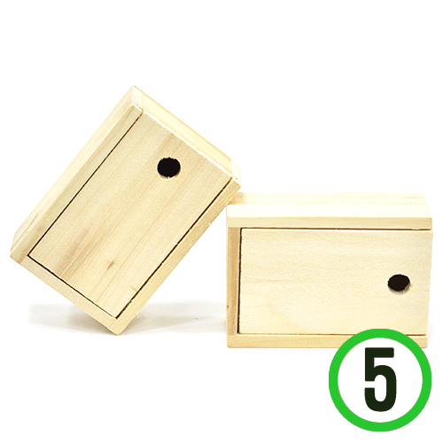 (냅스) 미닫이 명함통9.6x6.5x3.8cm(5개입) N-11-104