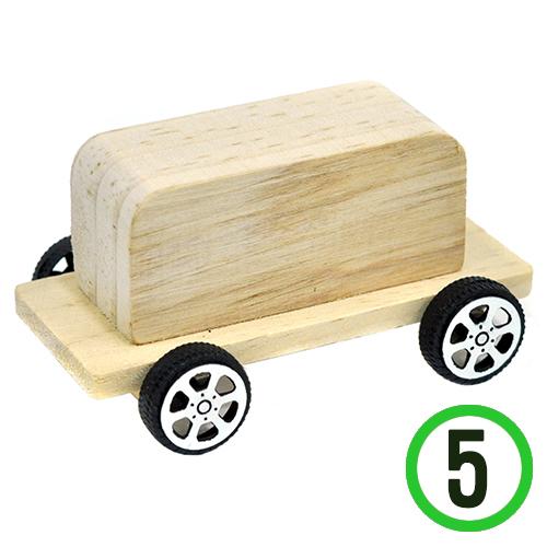 나무버스(바퀴포함)9x4x4.1cm(5개입) P-08-207