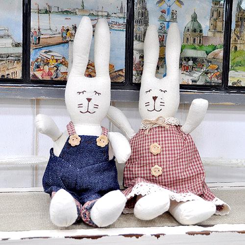 2F 청바지 토끼 커플 set C-11-302
