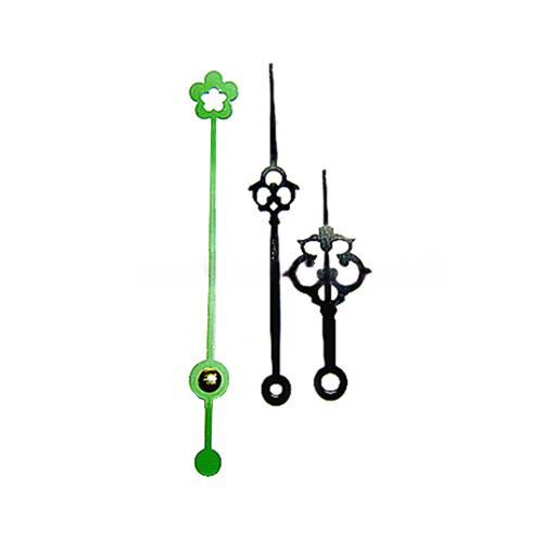 시계바늘 초록꽃모양*수입*분침길이10.6cm
