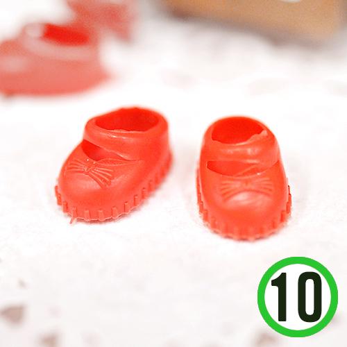 인형신발*빨강*1.7x1cm (10개입) F-05-214