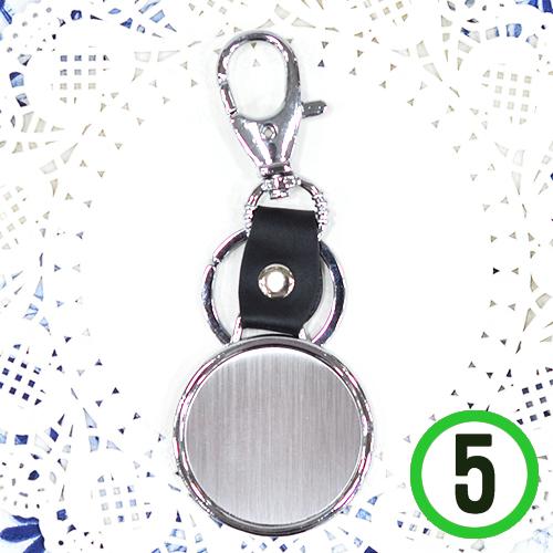 가죽 열쇠고리*원형*4.5cm(5개입)  A-06-131