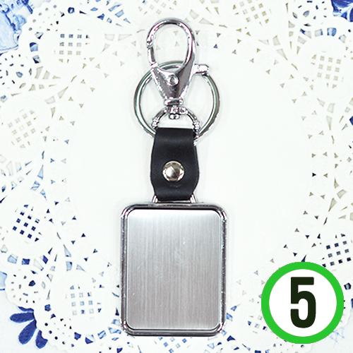 가죽 열쇠고리*사각*4x5cm(5개입)  A-06-132