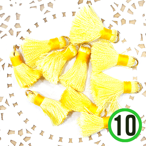 미니타슬*노랑*1.5x2cm(10개입)  A-07-160