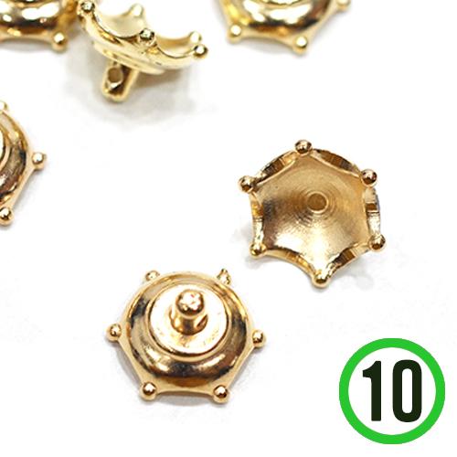 유리볼캡 8호 *왕관*금색 16mm(10개입) A-07-168