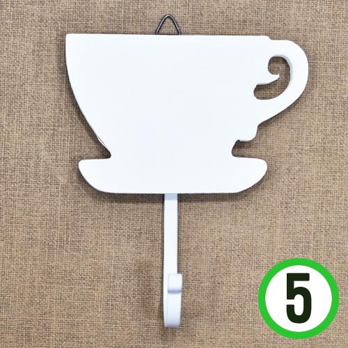 커피잔 1조걸이*하양*11x7cm(5개입)  T-03-210