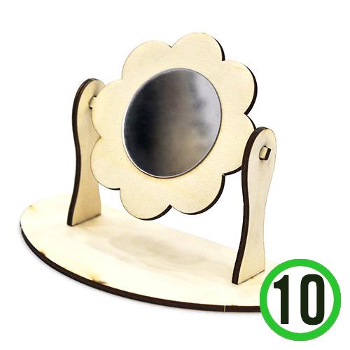 DIY 꽃회전거울(거울포함)17x12cm(10개입)*거울에 양면테이프 없음 *L-11-206