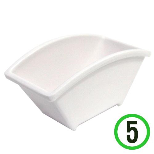 플라스틱 화분*부채형 10.8x6x5.5cm(5개입) Q-10-204