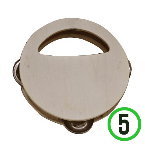 원목탬버린*5개입*12cm P-11-103