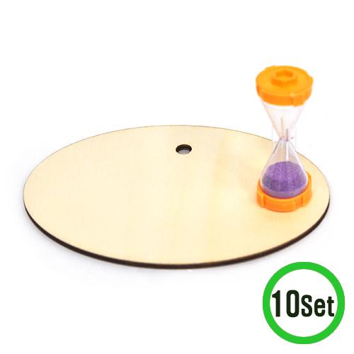 모래시계+타원 데코판*16x11cm(10세트) M-06-301