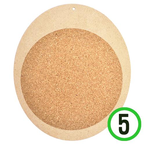 타원데코판*원형16cm콜크판*19.5x23cm(5개입) Q-06-103