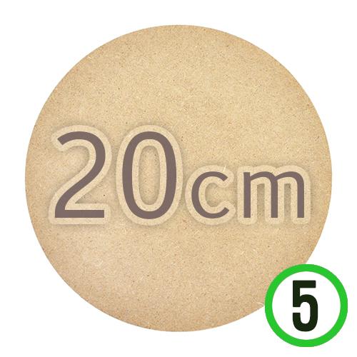 MDF 20cm 원형판*두께5mm*5개입 M-11-107