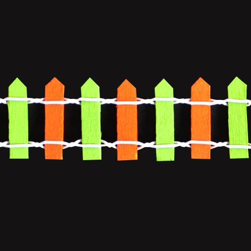 울타리*소*초록+주황*3x90cm *U-05-204