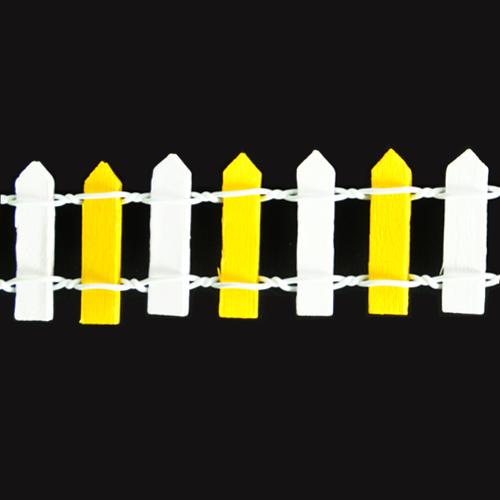 울타리*소*흰색+노랑*3x90cm *U-05-101