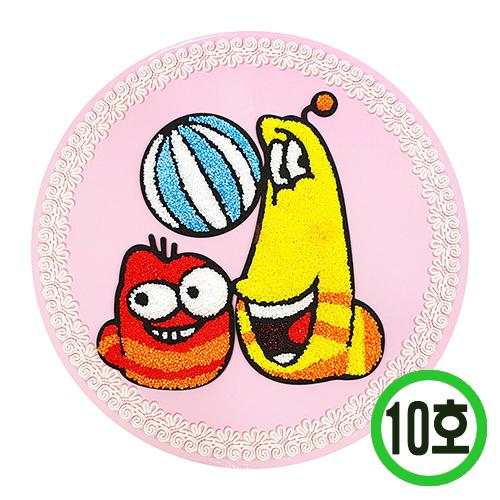 액자꾸미기10호*원형*라바*21cm(5개입) M-11-01