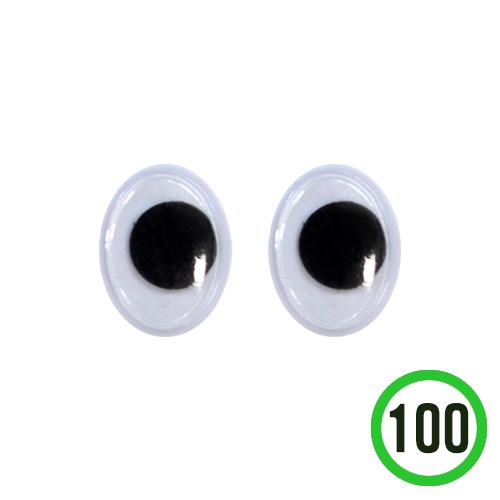 타원형 눈알 8x10mm(100개입) G-07-202