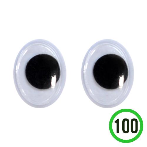 타원형 눈알 10x15mm(100개입) G-07-201