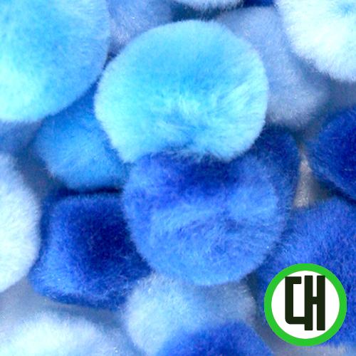 보송이모루*그라데이션*대*파랑*2.5cm(30개입) D-07-212