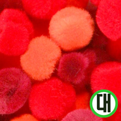 보송이모루*그라데이션*대*빨강*2.5cm(30개입) D-07-207