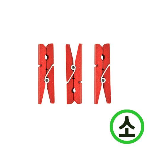 칼라집게 5cm*빨강(20개입)*소 N-02-303