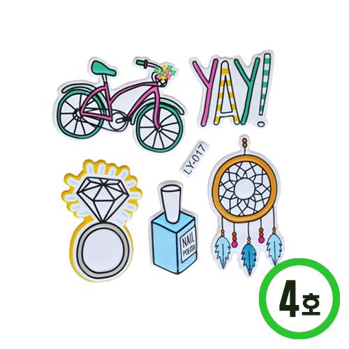 3D입체 스티커스폰지4호*자전거 B-10-129