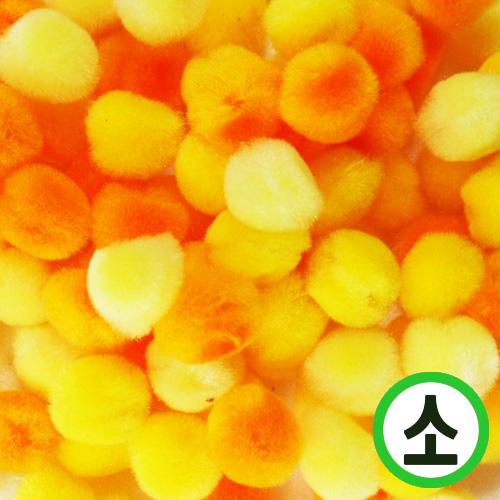 보송이모루*그라데이션*소*노랑*1.0cm(100개입) D-06-207