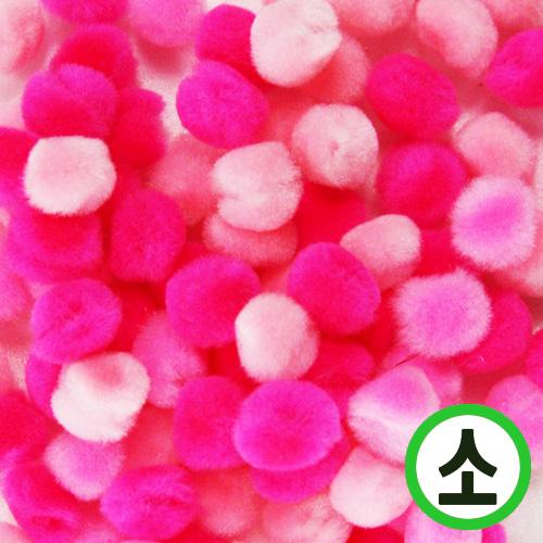 보송이모루*그라데이션*소*핑크*1.0cm(100개입) D-06-203