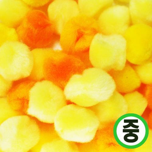 보송이모루*그라데이션*중*노랑*2.0cm(45개입) D-06-213