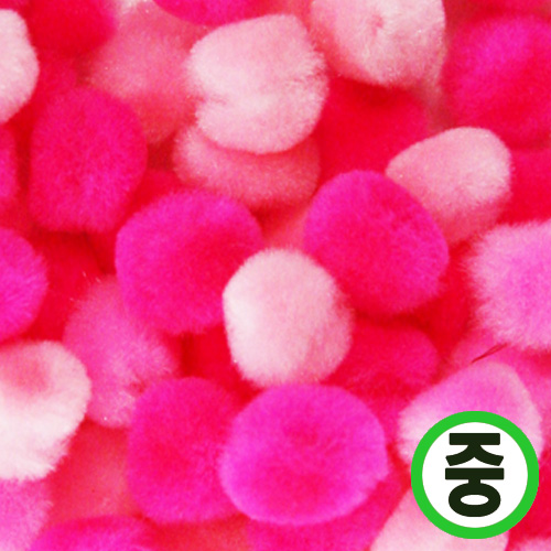 보송이모루*그라데이션*중*핑크*2.0cm(45개입) D-07-203