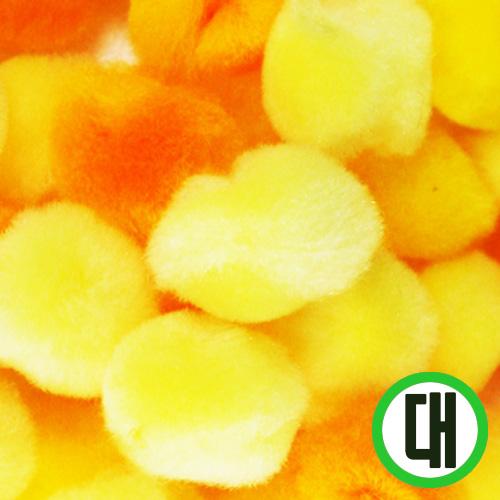 보송이모루*그라데이션*대*노랑*2.5cm(30개입) D-07-206