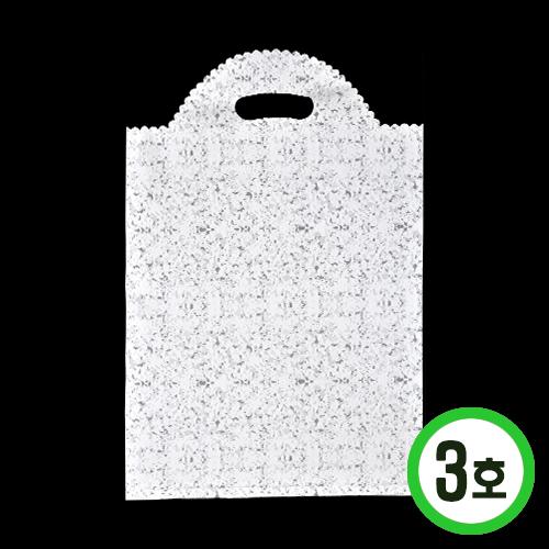 판매용 포장비닐3호*하양*26x39cm(50장입) *W-07-104