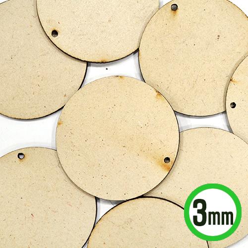 MDF1구멍 원형판 6cm 10개입 두께3mm R-06-209
