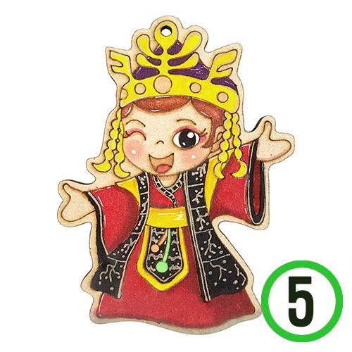 *팬시소품 선덕여왕 7.5x10cm (5개입)  U-03-104