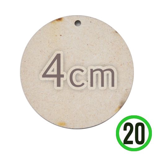 MDF 1구멍 원형판 4cm 두께 3mm (20개입) R-04-207
