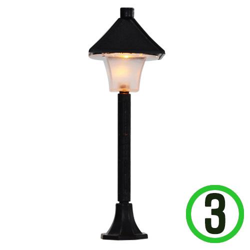 LED 가로등*검정* 4.5*13cm(3개입) W-05-106