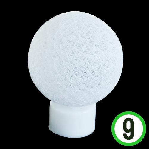 LED 코튼볼 *하양* 7cm (9개입) G-01-201