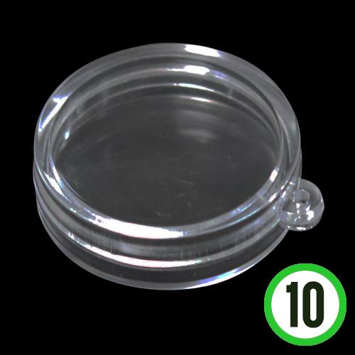 투명케이스*원형*10개입*지름4cm*두께12mm E-08-102
