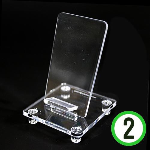 미니어쳐*투명폰거치대 6.5X7X10cm(2개입) J-04-109